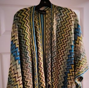 Multi color poncho (one size fits all)